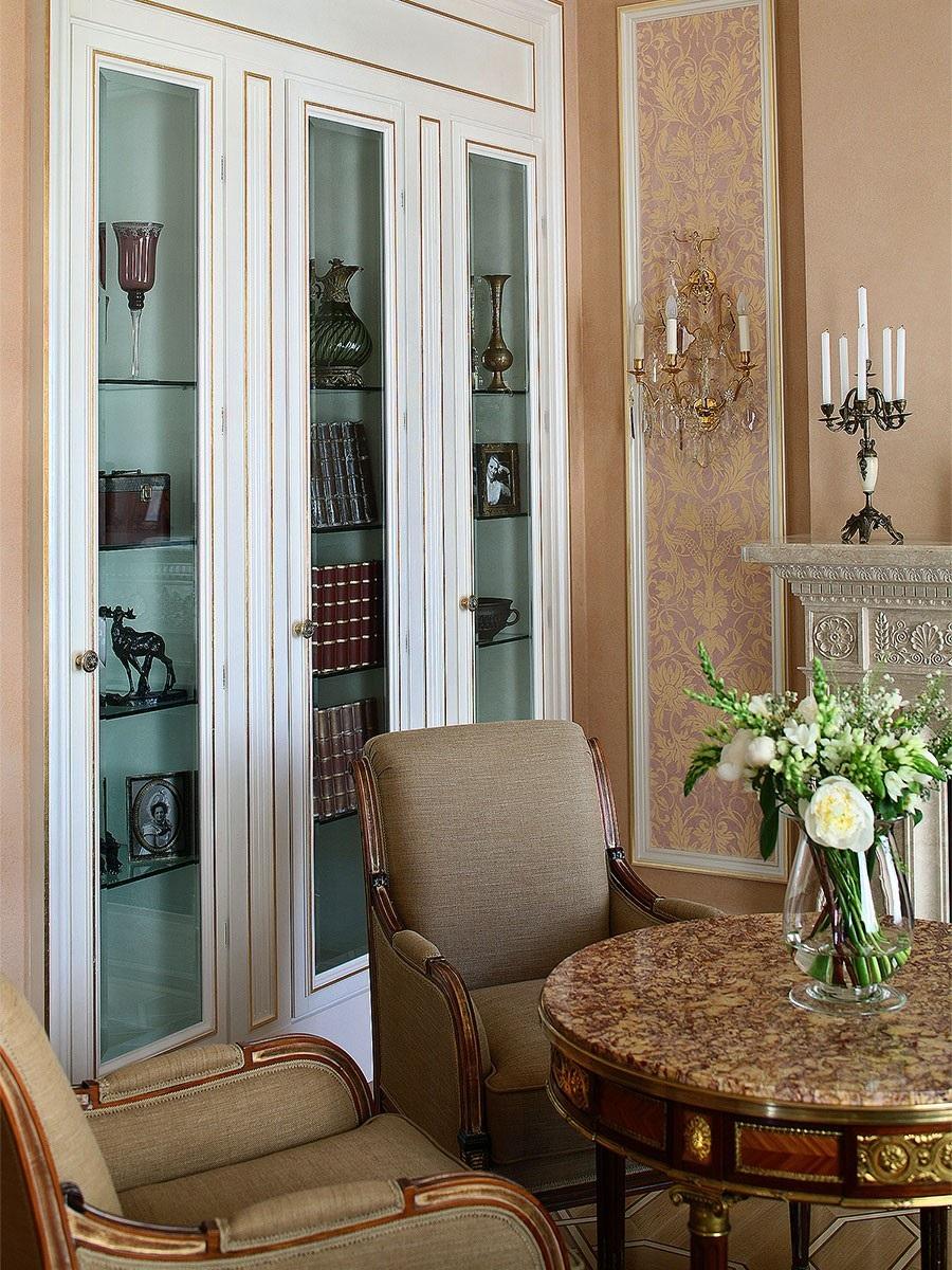 Проектирование классических интерьеров антикварный мебелью в Москве