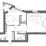 Пример планировки квартиры в велхаус на ленинском от дизайнера