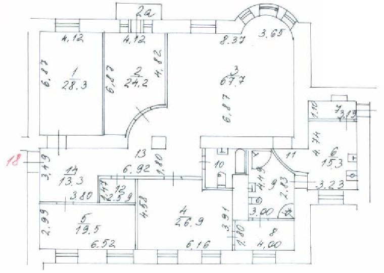 Заказать Планировку проекта у дизайнера по плану БТИ в Москве